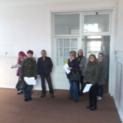 Picture caption: Parents and carers view the spacious rooms of Learning for Life's Herbert Street premises in Consett.